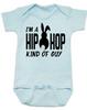 Hip Hop kind of guy baby onesie, hip hop kind of girl baby onesie, Cool Easter baby bodysuit, funny easter onsie, hip hop music baby onesie, Easter baby gift for hip parents, I'm a hip hop kind of guy, blue