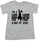 Hip Hop kind of guy toddler shirt, hip hop kind of girl toddler shirt, Cool Easter kid tshirt, funny easter toddler shirt, hip hop music kid shirt, Easter toddler gift for hip parents, I'm a hip hop kind of girl, grey