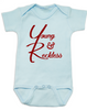 The young and reckless baby onesie, the young and the restless baby onesie, The Young & The Reckless, Young & Reckless babies, Soap Opera baby gift, blue