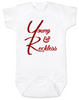The young and reckless baby onesie, the young and the restless baby onesie, The Young & The Reckless, Young & Reckless babies, Soap Opera baby gift