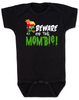 Beware of the Mombie, Mombie baby onesie, new mom zombie, Zombie Mom baby gift, New Mombie, Baby shower gift for zombie lover, black