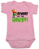 Beware of the Mombie, Mombie baby onesie, new mom zombie, Zombie Mom baby gift, New Mombie, Baby shower gift for zombie lover, pink