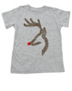 John Deer reindeer, browning kids shirt, funny christmas kid shirt,  badass christmas toddler tshirt, grey