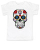 Dia de los Muertos toddler shirt, colorful sugar skull t-shirt, Day of the dead toddler shirt, Halloween kid shirt, white