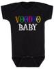 Voodoo Baby onesie, voodoo lady baby bodysuit, ween baby onesie, ween voodoo lady, voodoo baby, black