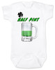 Lucky Half Pint Baby Onesie, Green beer baby onesie, St. Paddy's Day baby, St. Patrick's Day baby bodysuit, funny Irish baby onsie, Irish baby gift, lucky Irish baby, beer baby onesie, baby present for beer lovers, March baby gift, Irish beer drinking parents, Green Half Pint