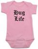 Hug Life gangsta baby onesie, pink