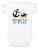 Naughtycal by nature baby Bodysuit, Naughty by nature baby, Ocean baby bodysuit, nature baby onsie, Nautical baby gift, funny fish baby Bodysuit