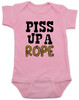 Piss up a rope baby onesie, Ween baby onesie, baby bodysuit with Ween lyrics, baby gift for ween fans, pink