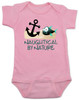 Naughtycal by nature gift box, nautical baby gift set, naughty by nature baby, Nautical baby shower, ocean baby gift, crochet shark hat, shark baby hat, ocean lover parents, pink nautical baby onesie