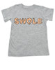 Swole toddler shirt, muscle baby, i work out toddler shirt, do you even lift, SWOLE kid shirt, strong like daddy, strong like mommy, toddler gift for fit parents, funny work out kid, muscular kid, weight lifting toddler, toddler exercise shirt, grey