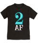 Toddler AF shirt, 2 AF, 2AF kid shirt, terrible 2s, terrible twos, funny 2 year old shirt, custom birthday shirt, toddler birthday shirt, cool gift for 2 year old