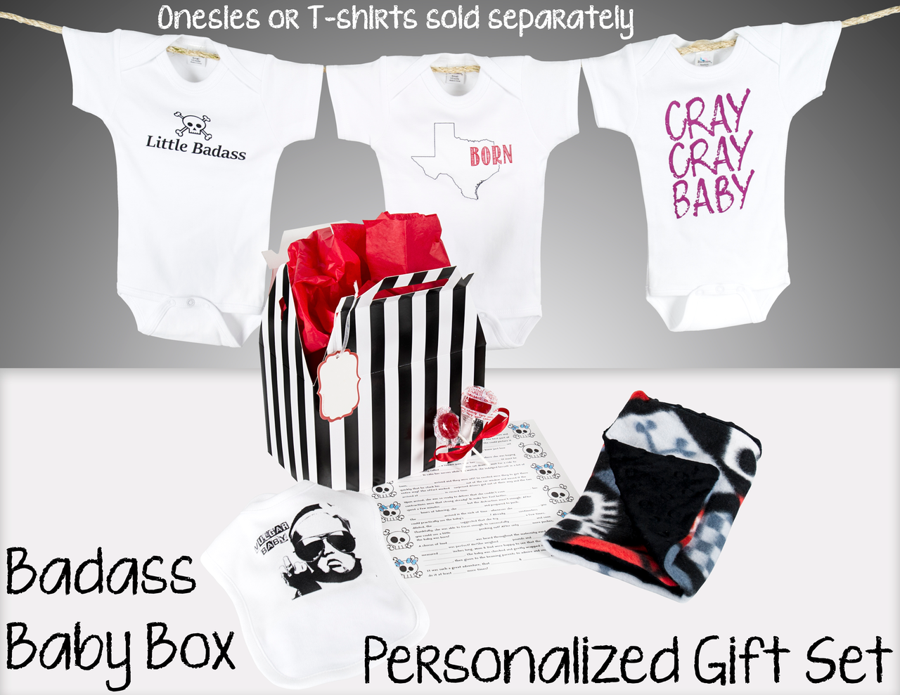 Badass baby gift sets badass baby box customize the perfect gift set negle Gallery