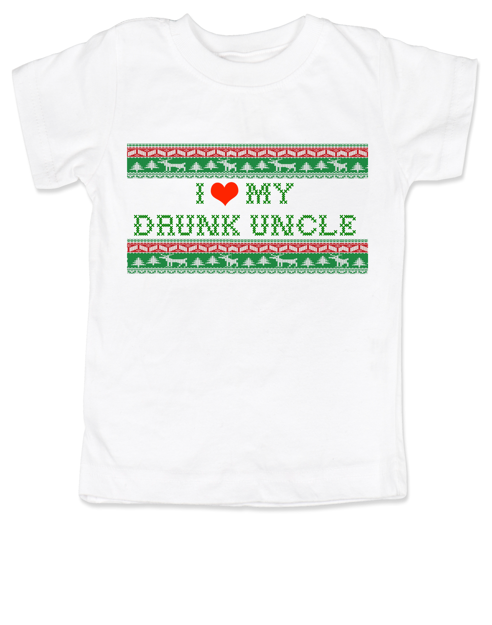 I Love My Drunk Uncle Personalized Toddler Shirt