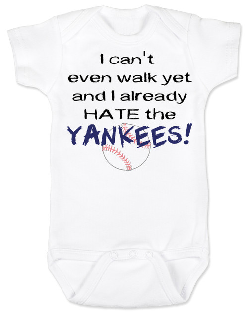 I can't even walk yet and I already HATE... Baby Onesie