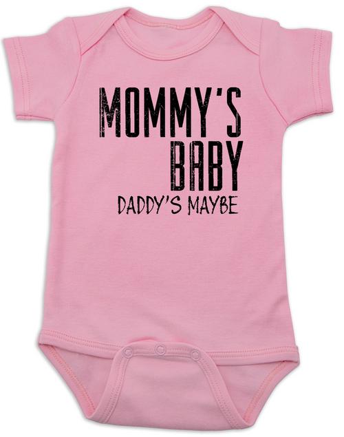 Mommys Baby Daddys Maybe Redneck Onesie Funny Shower