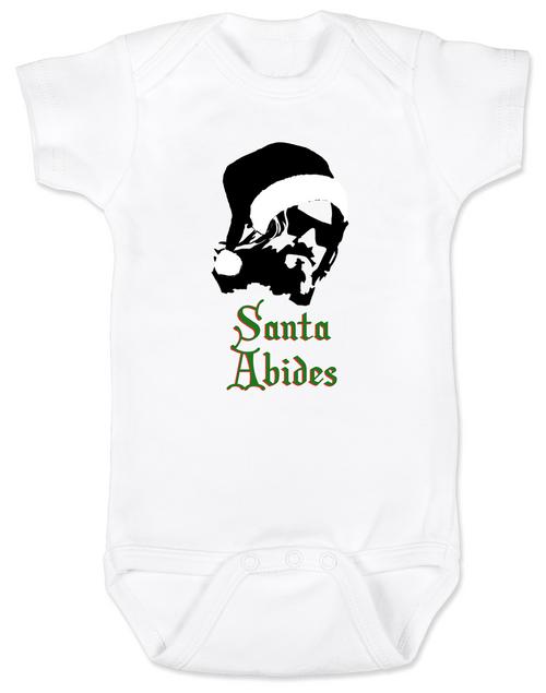 Santa Abides Baby Onesie