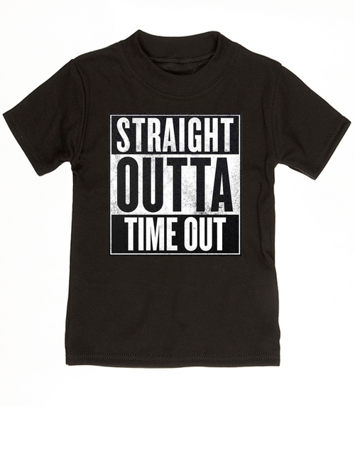 Straight Outta Time Out, Straight Outta toddler shirt, straight outta kid shirt, toddler time out shirt, nwa toddler shirt, straight outta timeout, black