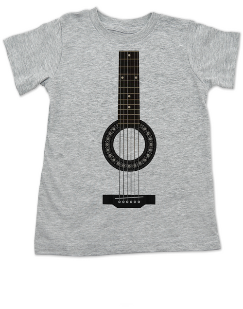 guitar toddler shirt, acoustic guitar toddler t-shirt, kid rockstar, kid guitar costume, signed guitar, rock and roll kid, kid or toddler gift for musician parents, classic rock kid clothes, personalized acoustic guitar toddler shirt, grey