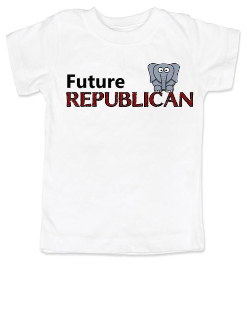 Future Republican toddler shirt, Little Republican, Right Wing kid t shirt, Republican Party toddler shirt, Conservative, Elephant, Political toddler t-shirt, kid politics, Election Year kid, 2016 Election, white
