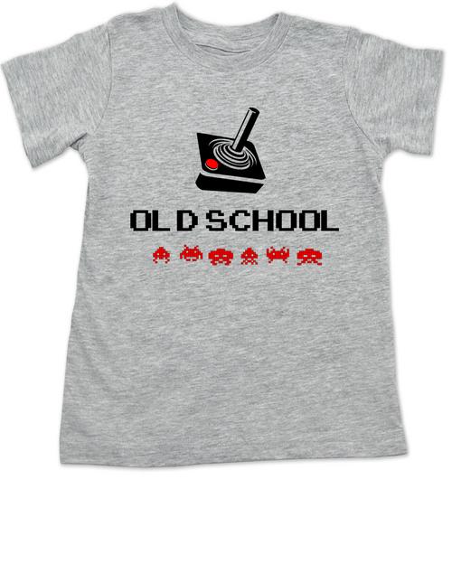 Old School toddler shirt, Gamer kid, Geeky Gamer toddler t-shirt, Video Game kid t shirt, 80's kid toddler shirt, retro gaming toddler shirt, joystick controller toddler t-shirt, grey