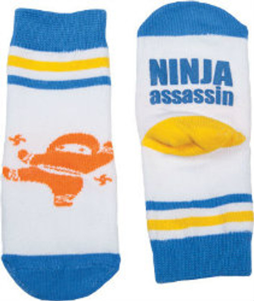 Ninja Assassin toddler socks, gamago socks, funny toddler socks, cool socks for toddlers, socks for cool kids, ninja socks for babies, toddler ninja birthday gift, best add on baby shower gift, cool gift for new parents, Ninja Assassin baby gift, Ninja toddler grippy socks