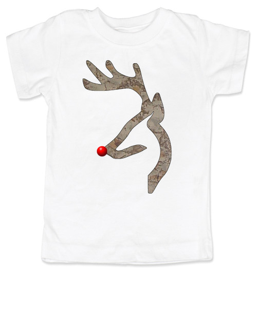 John Deer reindeer, browning kids shirt, funny christmas kid shirt,  badass christmas toddler tshirt, white