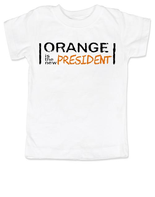 Orange is the new President, funny trump toddler shirt, Orange president kid shirt, President Trump toddler t-shirt, orange is the new black parody, political toddler shirt, funny president trump toddler gift, silly political shirt for kids