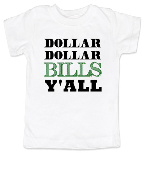 Wu-tang Clan toddler shirt, money toddler shirt, dollar dollar bills ya'll, future money maker, hip hop toddler shirt, cool kids shirt