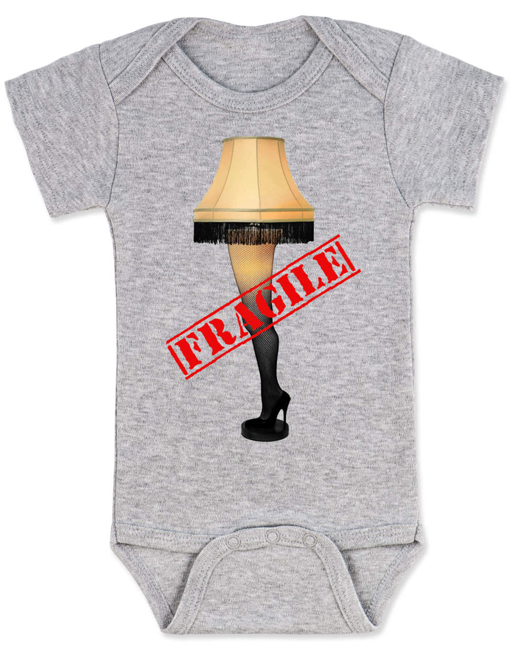 Christmas Story Leg Lamp Baby Onesie, Fragile Onsie, Classic Christmas Movie  Onesie, A