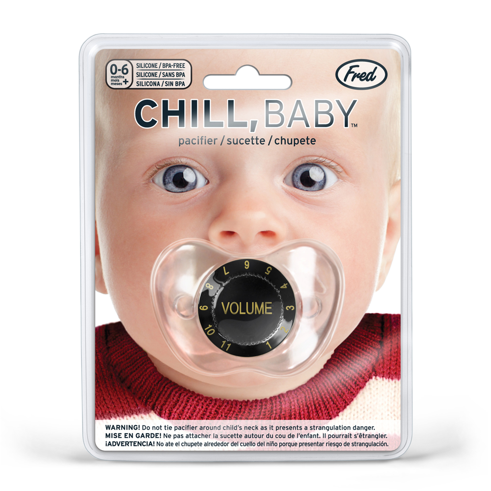 Chill baby amp volume knob pacifier funny baby pacifier volume knob pacifier rock and roll baby binky baby shower voltagebd Images