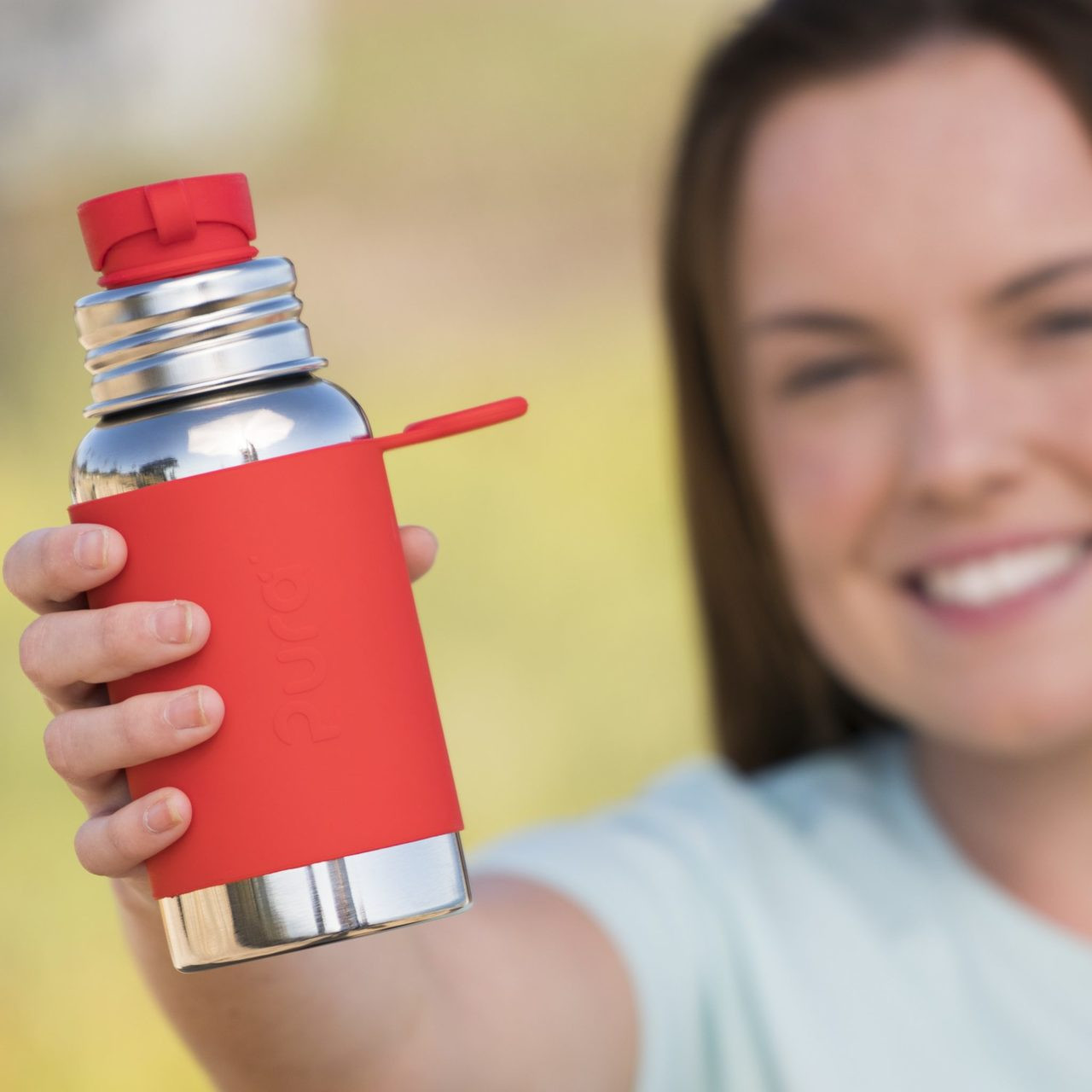 Pura Sport™ 18oz Stainless Steel Bottle with Sleeve