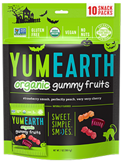 Halloween Organic Gummy Fruits Bag of 10 by Yumearth