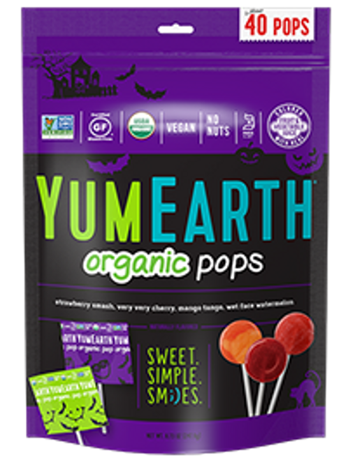 Halloween Organic Lollipops 40 count by Yumearth