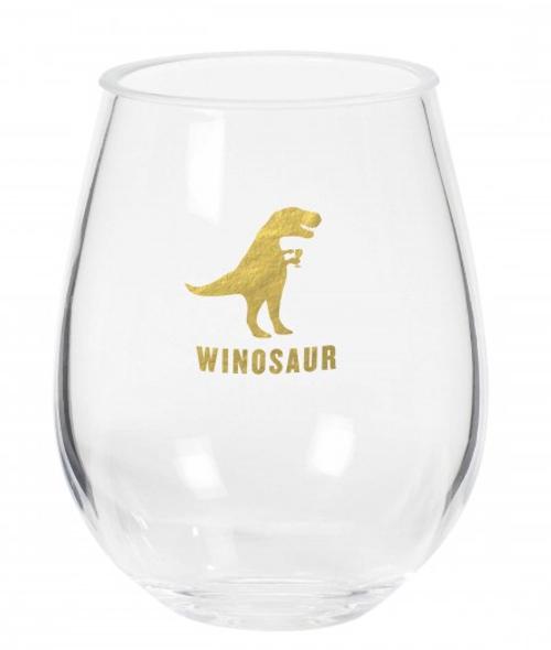 Stemless Acrylic Wine Glass - Winosaur