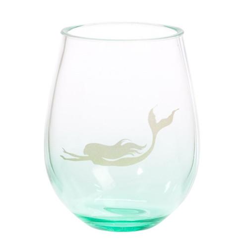 Stemless Acrylic Wine Glass - Mermaid
