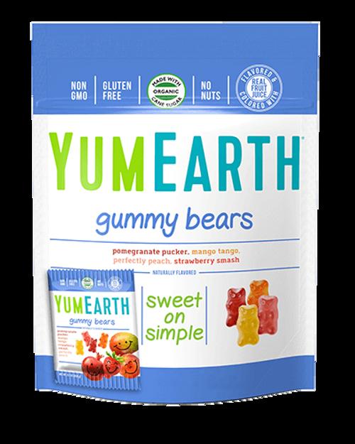 Assorted Flavor Gummy Bears YumEarth 10 packs