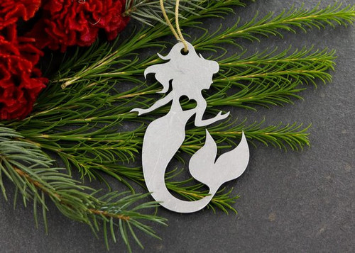 Mermaid Metal Ornament by Iron Art