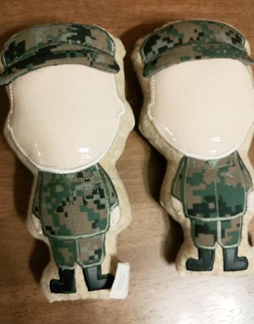 Military Wrap Scrap Photo Face Dolls - Male Pale Skin
