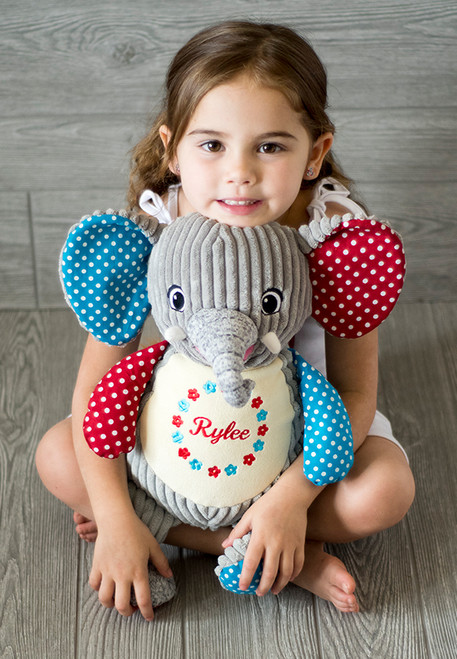 Cubbie Embroidered Harlequin Elephant