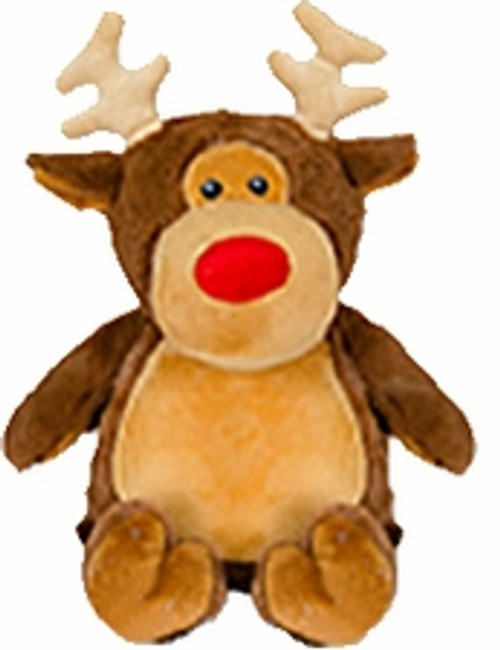 Cubbie Embroidered Brown Reindeer