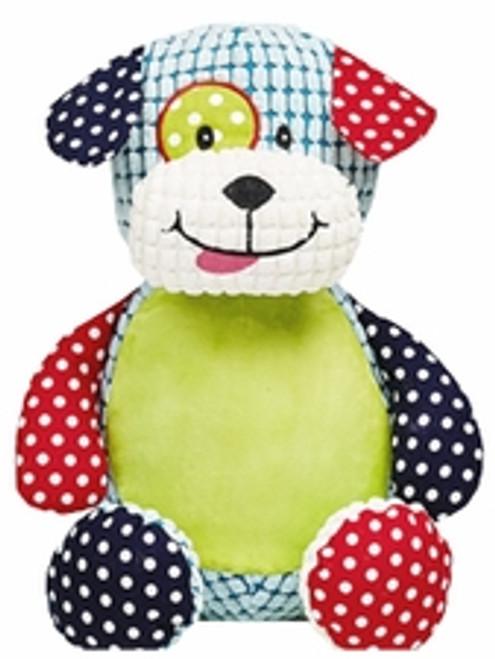 Cubbie Embroidered Harlequin Puppy