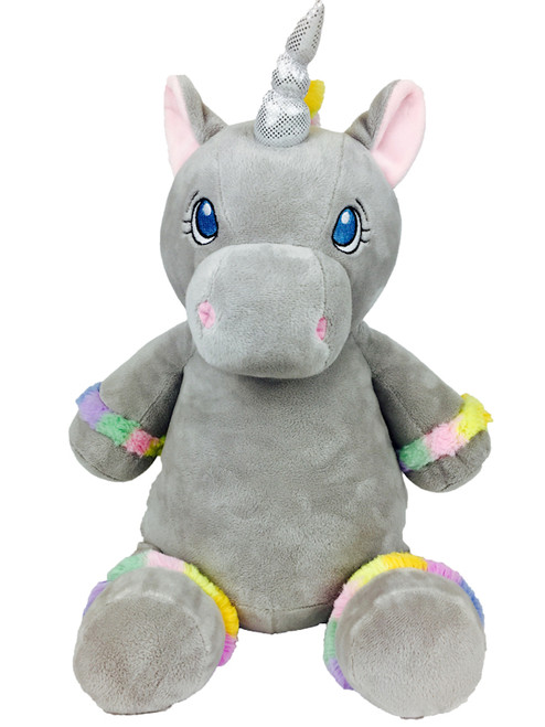 Cubbie Embroidered Grey Unicorn