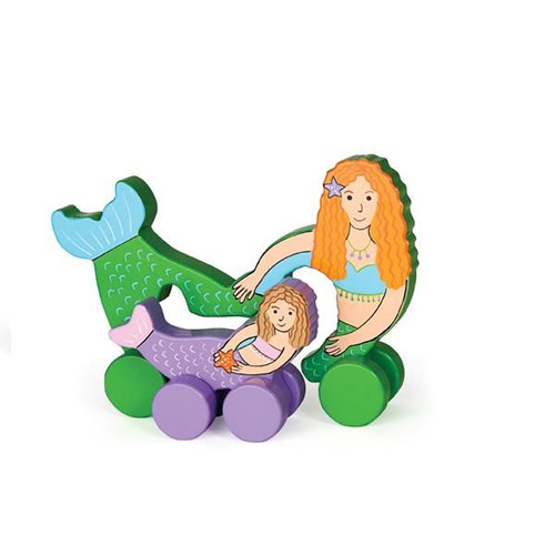 MERMAID PARENT AND BABY ROLLING TOY