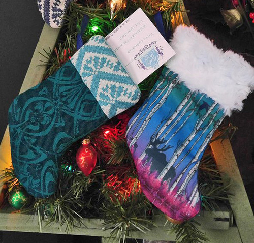 Wrap Scrap Stocking Ornament & Card holder