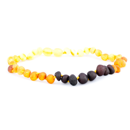 Rainbow Raw Amber Necklace 12/13 inch by Amber Monkey