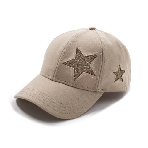 Cotton Ball Cap Glitter Star Design  CC Beanie