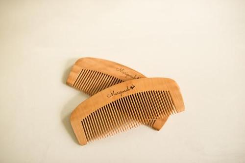 Bamboo Peachwood Combs set of 2 Mariposah