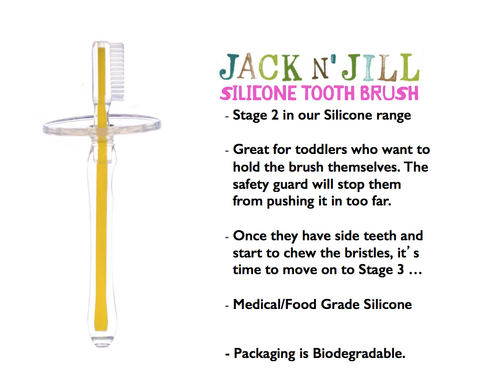 Jack N' Jill Silicone Tooth Brush Stage 2 (1-3 Years)