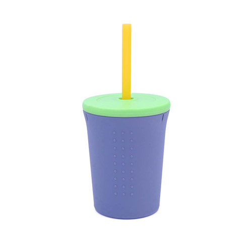 12oz Silicone Cup with lid and straw